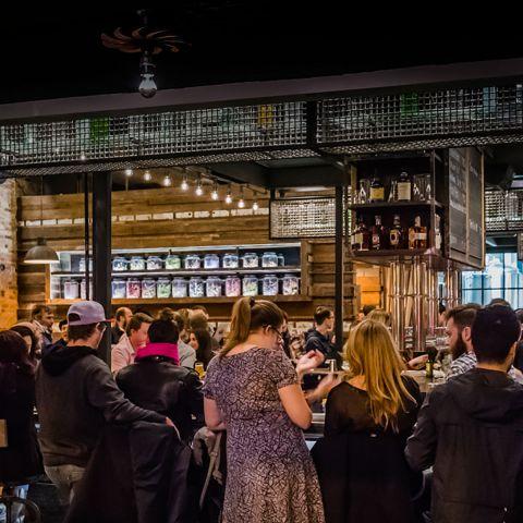 Opening Night at Forbidden Root Restaurant & Brewery