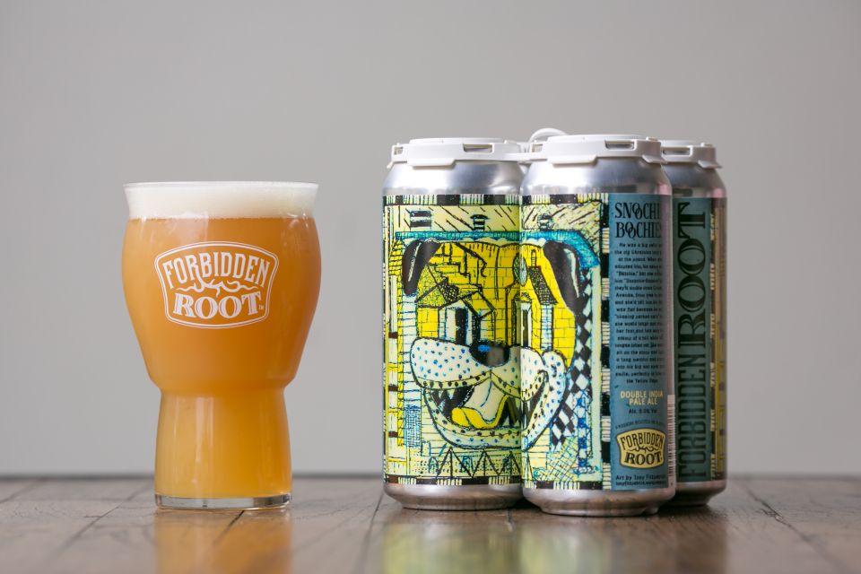 Snoochie Boochies DIPA Forbidden Root Craft Beer Brewery